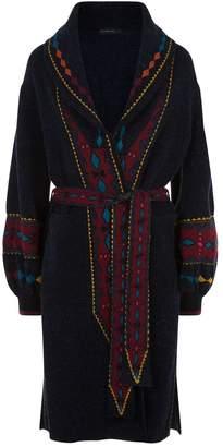 Etro Patterned Knit Coat