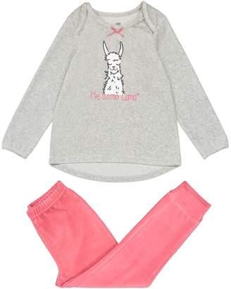 La Redoute COLLECTIONS 2-Piece Velour Llama Print Pyjamas, 3-12 Years