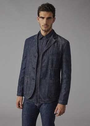 Giorgio Armani Garment-Dyed Denim Jacket
