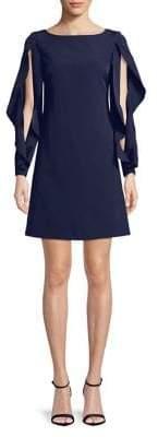 Vince Camuto Slit-Sleeve Shift Dress