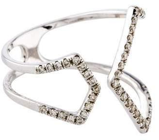 Ef Collection 14K Diamond Split Chevron Ring