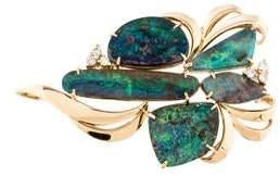 Pendant Boulder Opal & Diamond Pendant