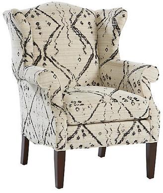 Michael Thomas Collection Bradford Wingback Chair - Ivory/Black
