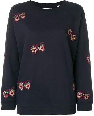 Parker Chinti & embroidered hearts sweatshirt