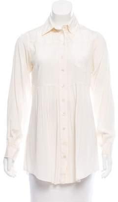 Mara Hoffman Silk Button-Up Top w/ Tags