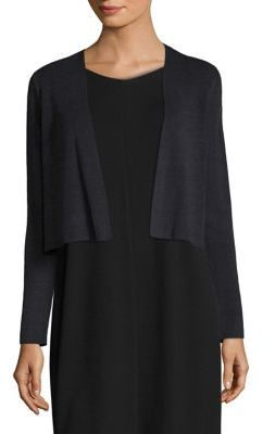 Eileen Fisher Linen Cropped Cardigan $218 thestylecure.com