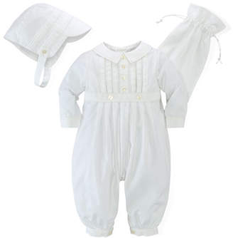 Ralph Lauren Cotton Special Occasion Set, White, Size 3-9 Months