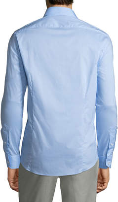 Roberto Cavalli Men's Slim-Fit Stretch Dress Shirt, Light Blue
