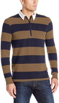 Dockers Classic Wide Stripe L/S Sueded Jersey Rugby