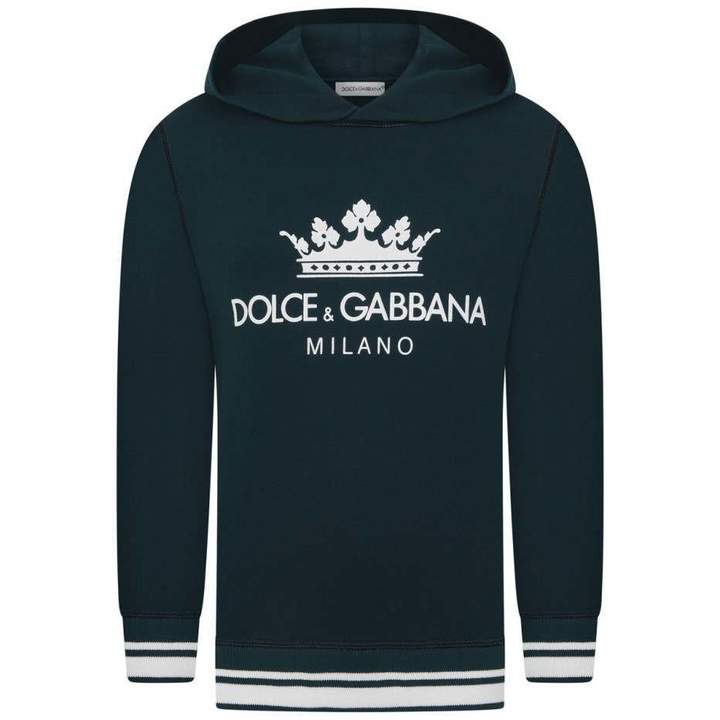Dolce & GabbanaBoys Blue Milano Hooded Sweater