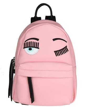 Chiara Ferragni flirting Backpack In Pink Leather