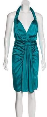 Blumarine Midi Halter Dress