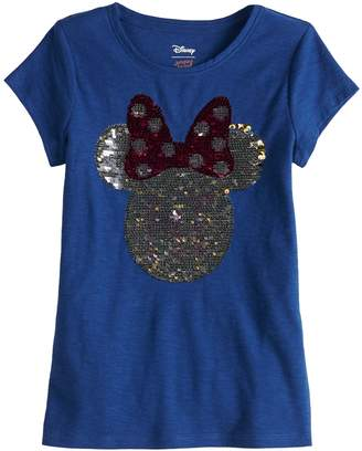 """Disneyjumping Beans Disney's Minnie Mouse Girls 4-10 """"Hi"""" Flip-Sequin Short-Sleeve Graphic Tee by Jumping Beans"""