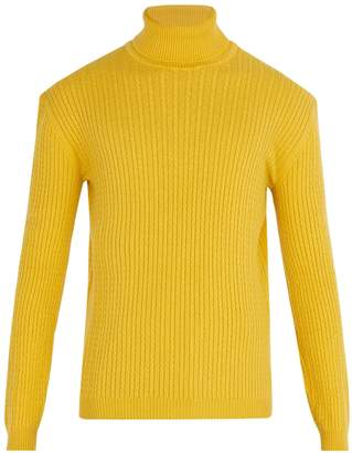 Gucci Cable-knit cashmere roll-neck sweater