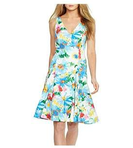Polo Ralph Lauren Magnolia Print Stretch Cotton Dress