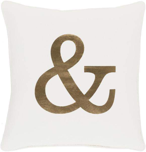 Ampersand Toss Pillow IVORY/GOLD