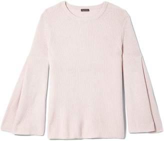 Vince Camuto Rib-stitch Bell-sleeve Sweater