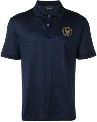 Alexander McQueen skull patch polo shirt