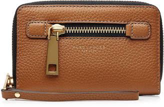 Marc Jacobs Leather Gotham Zip Phone Wristlet