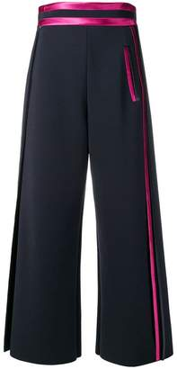 Giorgio Armani ribbon trim cropped trousers