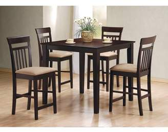 Coaster Company Coaster Cappuccino Counter Height 5pc Dinette Set