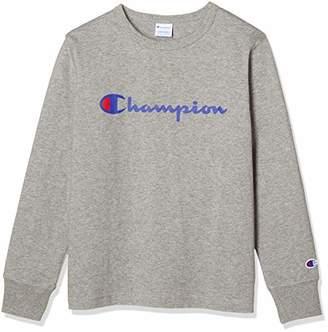 Champion (チャンピオン) - [チャンピオン] ロングスリーブTシャツ CS7991 オックスフォードグレー 日本 160 (日本サイズ160 相当)