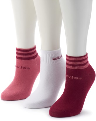 adidas Women's 3-Pack climalite Striped Low Cut Socks