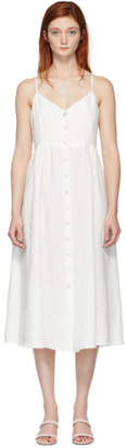 Mansur Gavriel White Slip Button Dress