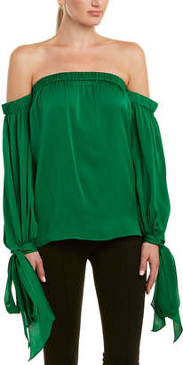 Milly Alba Silk-Blend Top