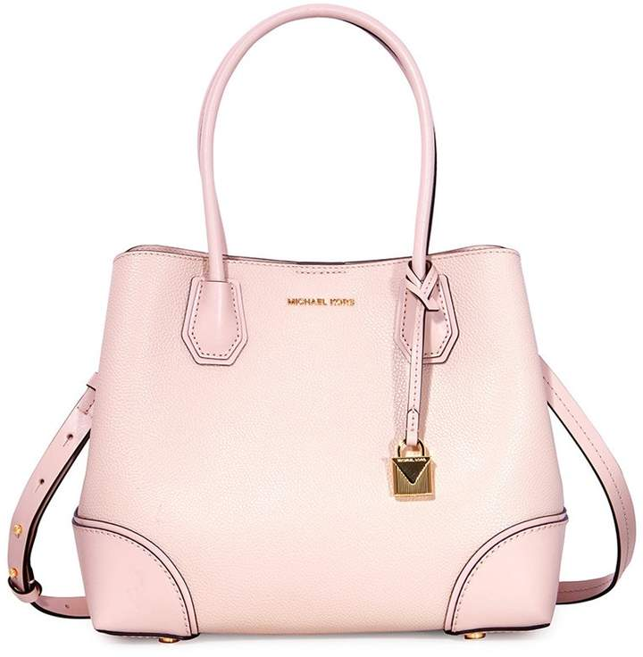 Michael Kors Mercer Medium Leather Satchel - Soft Pink - ONE COLOR - STYLE