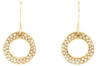 Ippolita Diamond Stardust Open Circle Drop Earrings