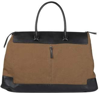 Dries Van Noten Leather Trimmed Canvas Bag