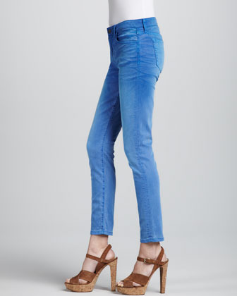 Joe's Jeans Super Chic Faded Clear Skinny Ankle Jeans