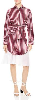 Sandro Mèlia Pleated-Hem Shirt Dress