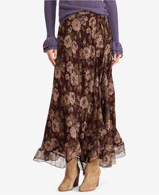 Polo Ralph Lauren (ポロ ラルフ ローレン) - Polo Ralph Lauren Floral-Print Maxiskirt