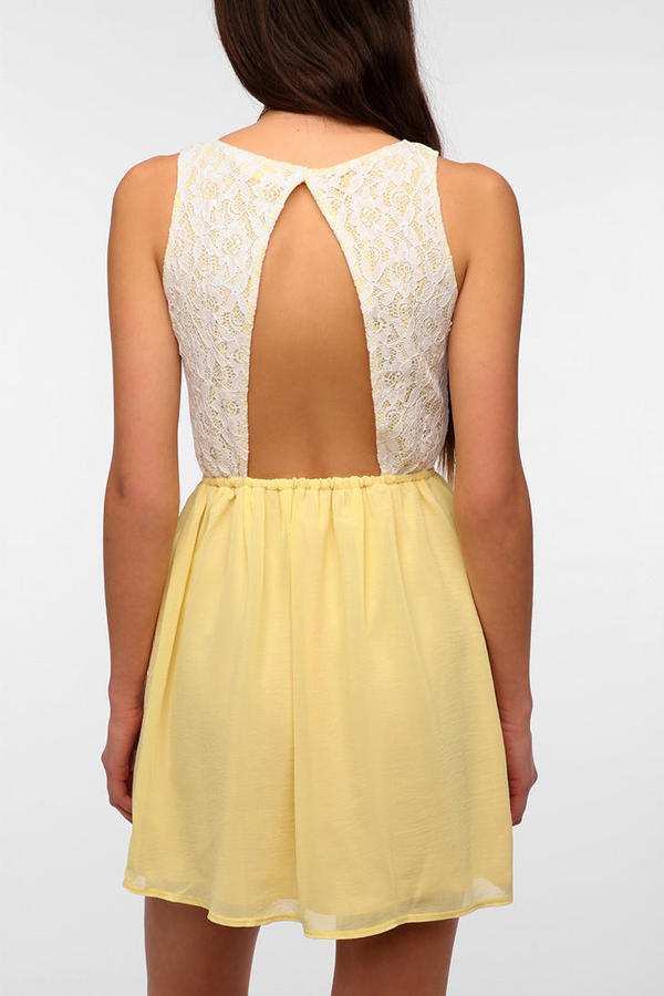 Urban Outfitters One & Only x Urban Renewal Lace Open-Back Dress