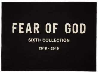 Fear Of God ブラック エンブロイダリー スロー ブランケット