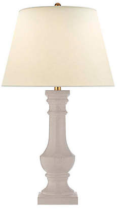 Visual Comfort & Co. Balustrade Round Table Lamp - Bone Craquelure
