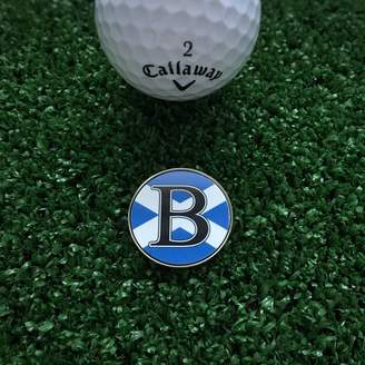 Hope and Halcyon Personalised Initial Scotland Flag Golf Ball Marker