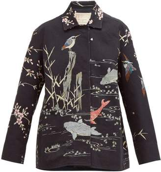 By Walid Hope Koi Print Cotton Jacket - Womens - Black Multi