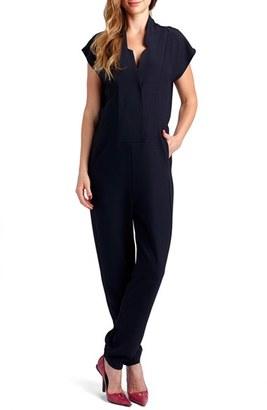 Women's Loyal Hana 'Celia' Short Sleeve Maternity Jumpsuit $175 thestylecure.com