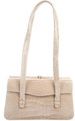 Judith Leiber Alligator Kiss-Lock Shoulder Bag