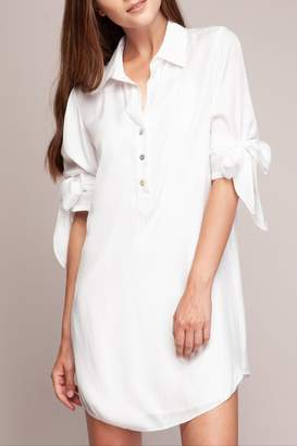 Cattiva Girl Shirt-Dress Sleeve-Tie Detail