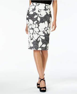 Thalia Sodi Floral-Print Pencil Skirt, Created for Macy's