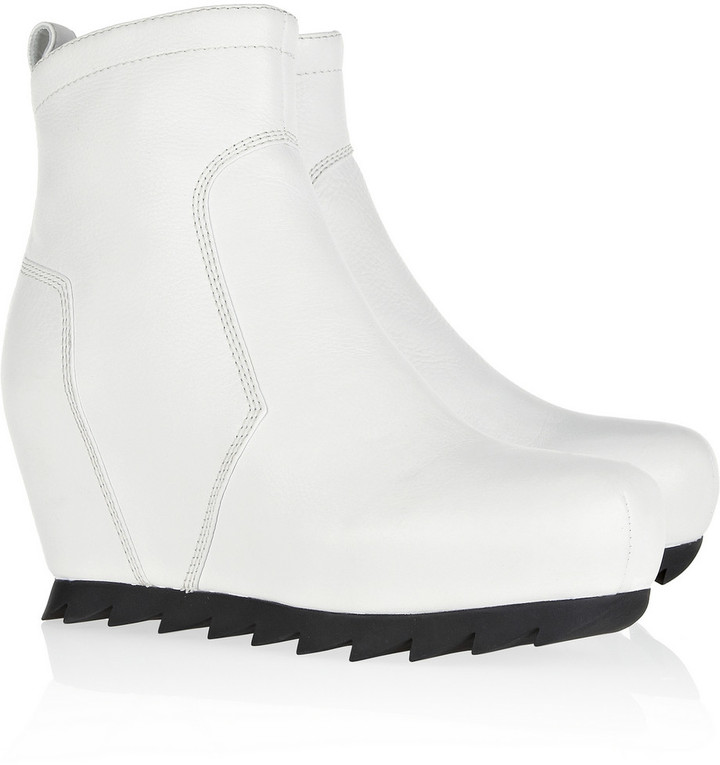Camilla Skovgaard Leather wedge ankle boots