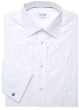 Eton Contemporary-Fit Floral Embroidered Button-Down Shirt