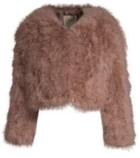 Pello Bello Cropped Feather Jacket