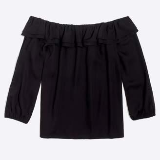 J.Crew Factory Ruffle convertible blouse