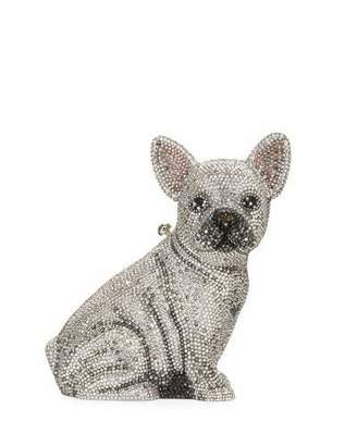 Judith Leiber Couture Maxine French Bulldog Crystal Clutch Bag, Silver