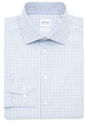 Men's Armani Collezioni Slim Fit Plaid Dress Shirt $345 thestylecure.com